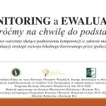 Szkolenie w zakresie nabycia kompetencji z monitorowania i ewaluacji LSR