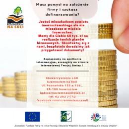 LGD Czarnoziem na Soli - Masz pomysł na założenie firmy  i szukasz dofinansowania?