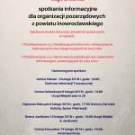 Spotkania informacyjne dla organizacji pozarządowych z powiatu inowrocławskiego.