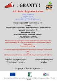 LGD Czarnoziem na Soli - Szkolenia dla grantobiorców !