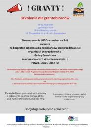 LGD Czarnoziem na Soli - Szkolenia dla grantobiorców z Gminy Gniewkowo ! Zapraszamy !