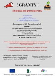 LGD Czarnoziem na Soli - Bezpłatne szkolenie dla grantobiorców z Gminy Janikowo ! Zapraszamy !