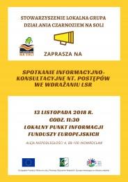 LGD Czarnoziem na Soli - Zapraszamy na spotkanie informacyjno - konsultacyjne - 13 listopada 2018
