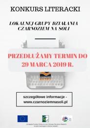 LGD Czarnoziem na Soli - Konkurs Literacki z LGD ! Przedłużamy termin składania prac !