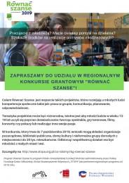 """LGD Czarnoziem na Soli - """"Równać Szanse"""" - konkurs"""