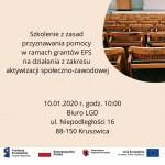 Szkolenie - Aktywizacja społeczno-zawodowa - Granty EFS