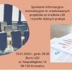Spotkanie informacyjno-konsultacyjne - 10.01.2020 r. - LGD Czarnoziem na Soli