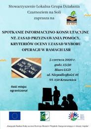 LGD Czarnoziem na Soli - Zapraszamy na spotkanie informacyjno-konsultacyjne