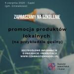 """Szkolenie """"Promocja produktów lokalnych"""" (na przykładzie gęsiny) w Gąskach"""