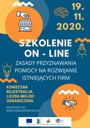 LGD Czarnoziem na Soli - Szkolenie online dla wnioskodawców ubiegających się o dofinansowanie na rozwijanie działalności