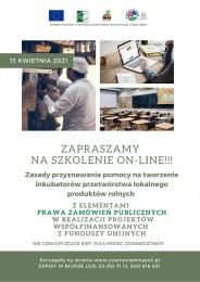 LGD Czarnoziem na Soli - Zapraszamy na szkolenie z zasad przyznawania pomocy na tworzenie inkubatorów przetwórstwa lokalnego produktów rolnych!