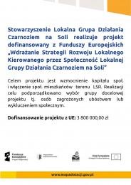 LGD Czarnoziem na Soli - Projekt grantowy współfinansowany z EFS